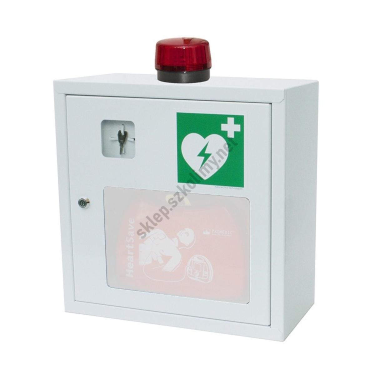 Szafka na defibrylator z alarmem dźwiękowym
