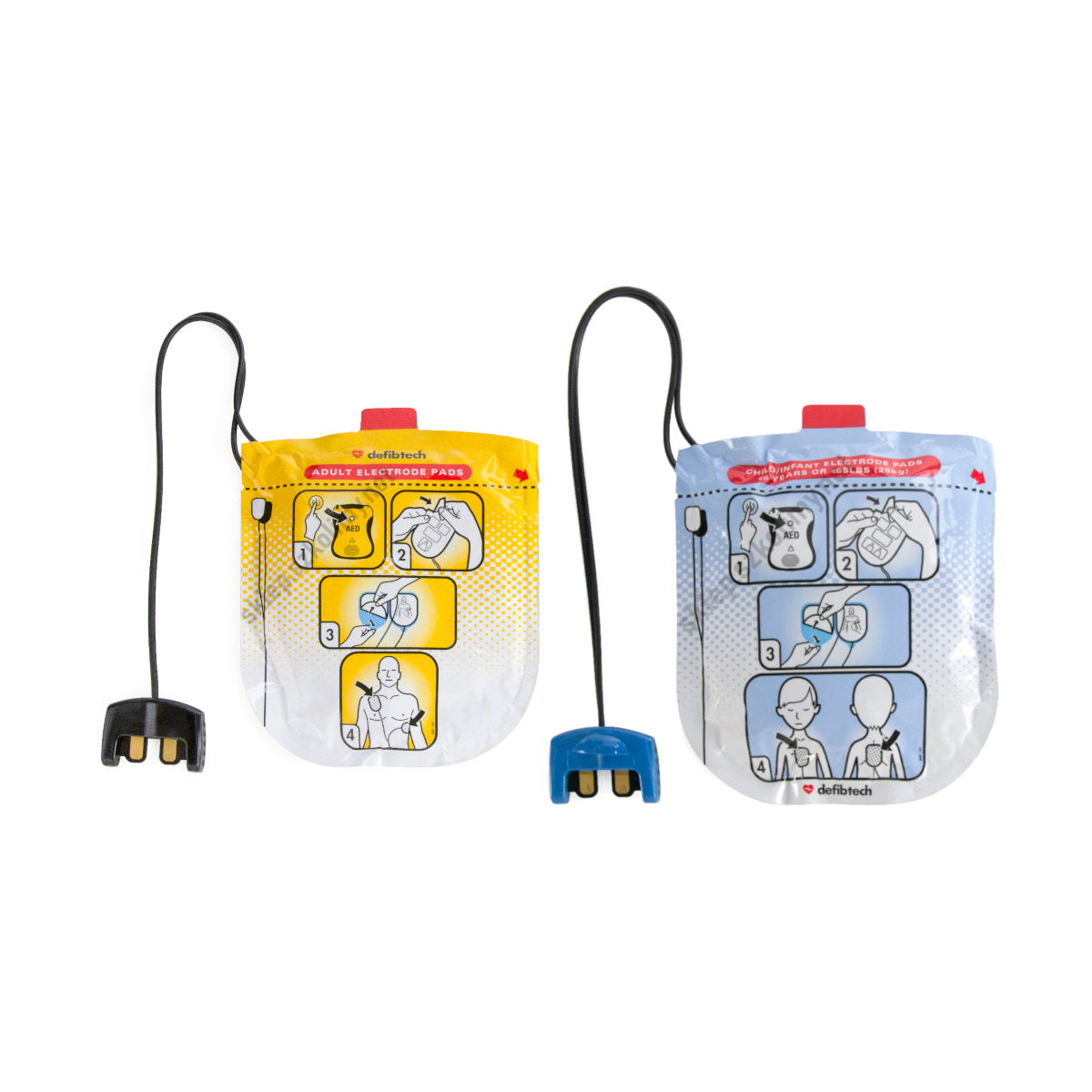 Elektrody do defibrylatora AED Defibtech Lifeline (dla dorosłych | dla dzieci)