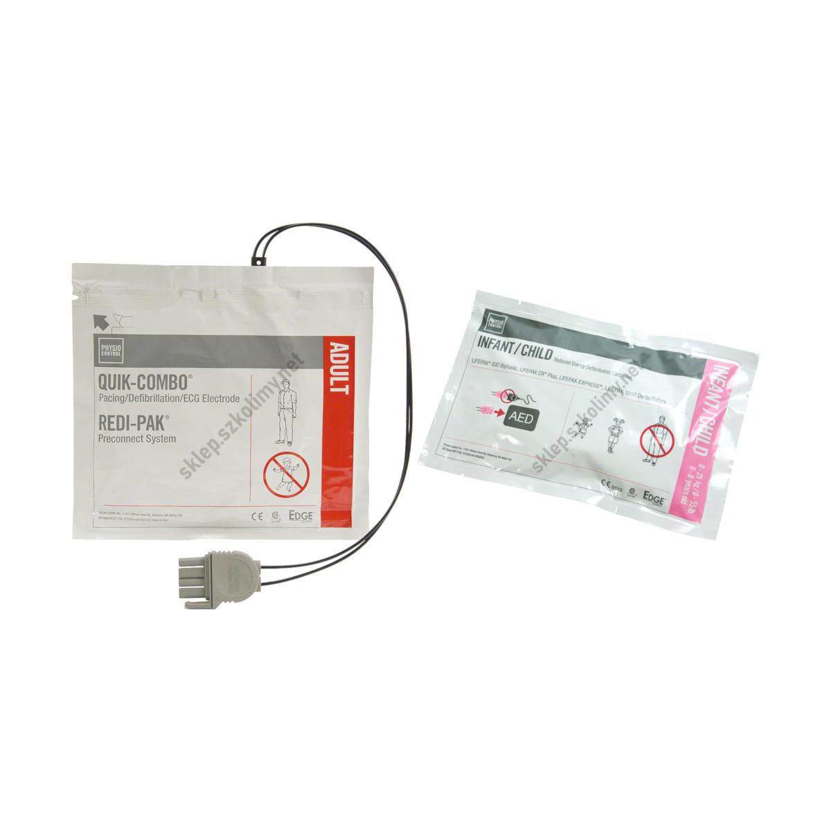 Elektrody do defibrylatora AED LIFEPAK 1000 (dla dorosłych | dla dzieci)
