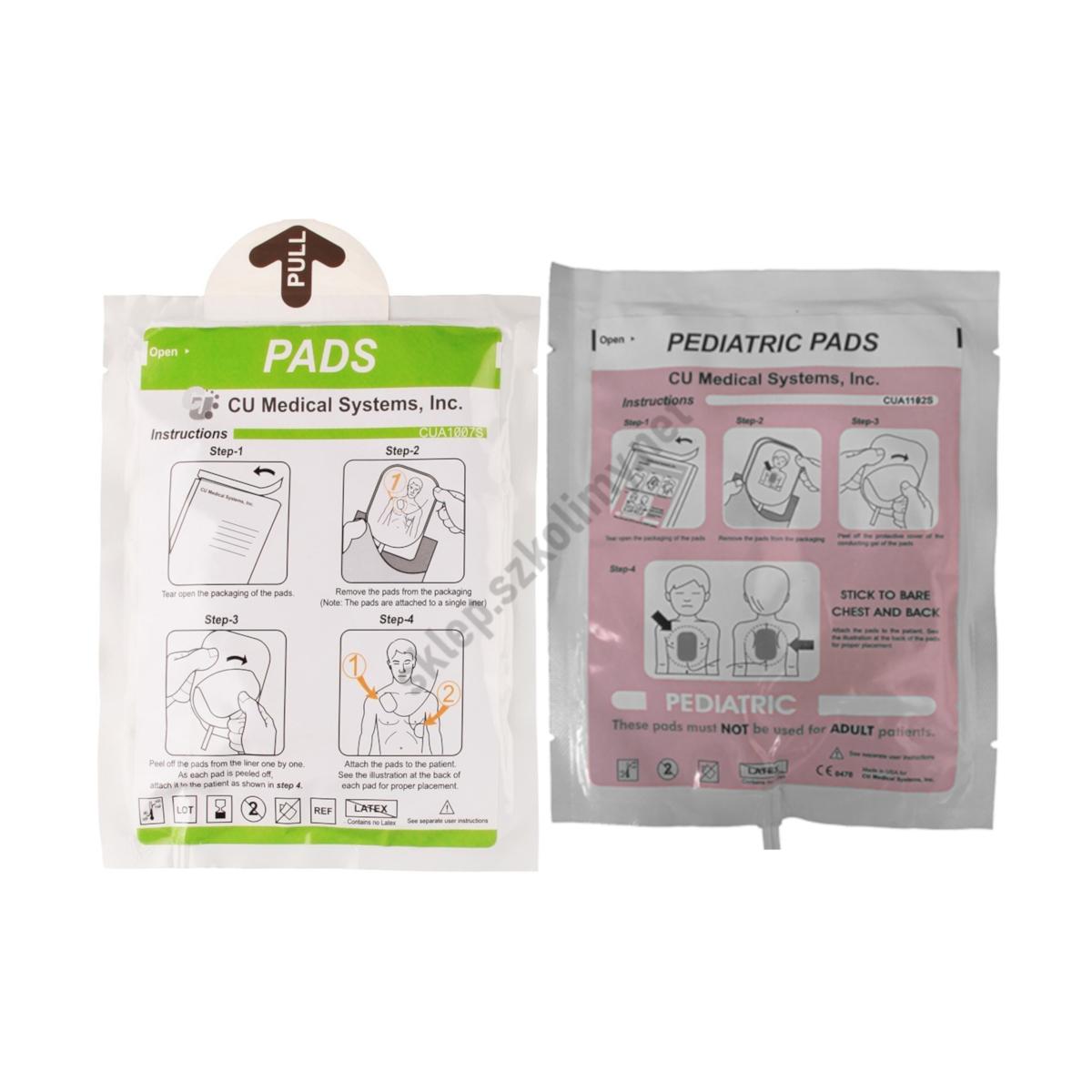 Elektrody do defibrylatora AED ME PAD CU SP1 (dla dorosłych | pediatryczne)