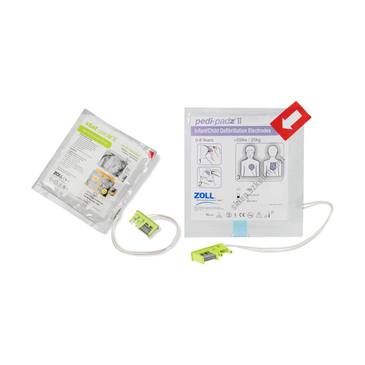 Elektrody do defibrylatora ZOLL AED PLUS (dla dorosłych | dla dzieci)