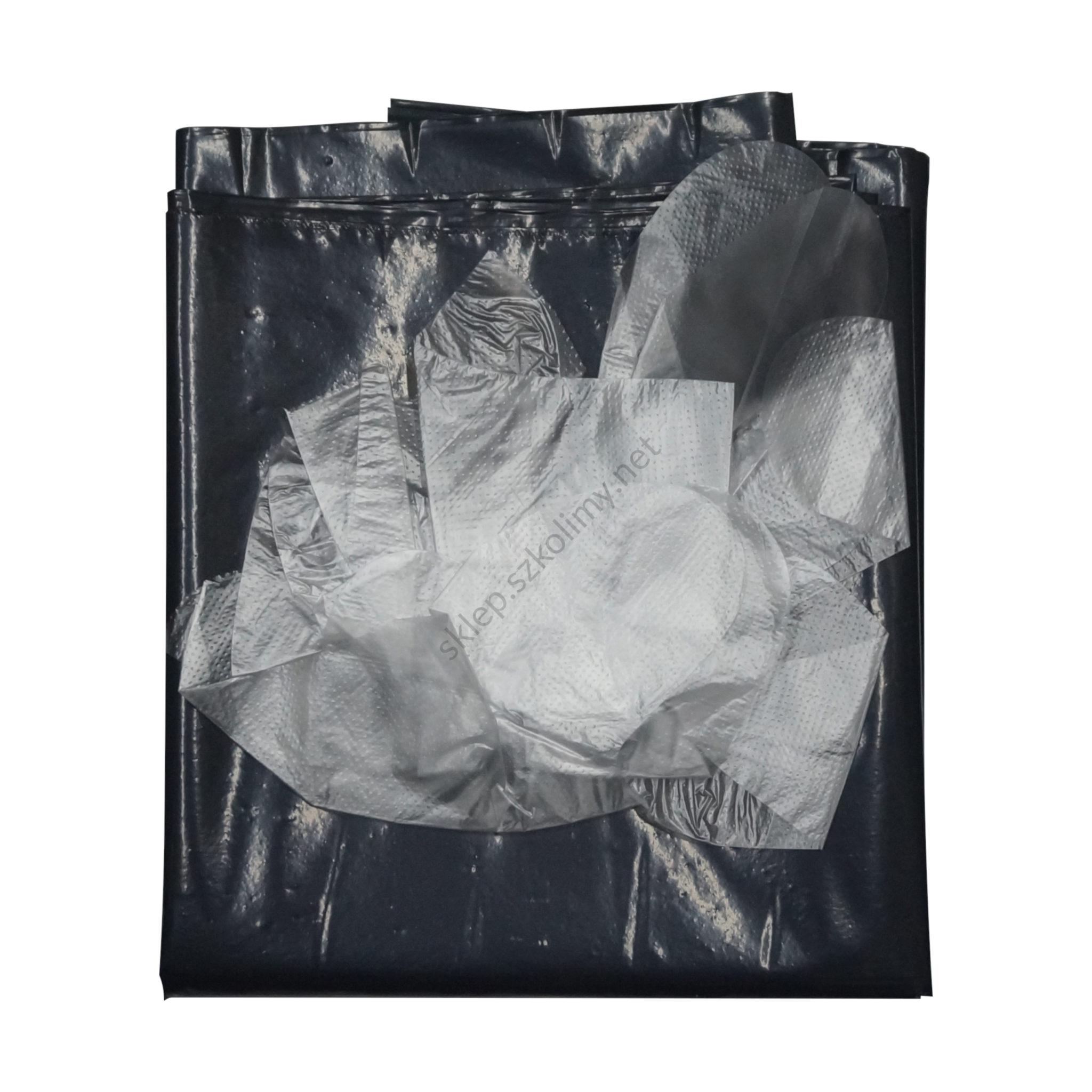 Folia do przykrywania zwłok z rękawiczkami