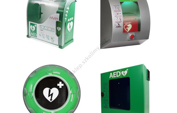 Szafki i oznaczenie AED