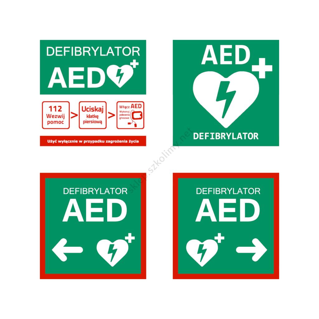 Oznakowanie AED