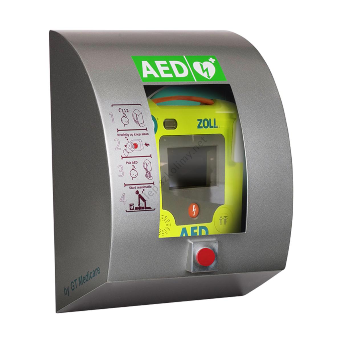 Szafka zewnętrzna na AED SixCase SC 1330 z alarmem (aluminiowa)