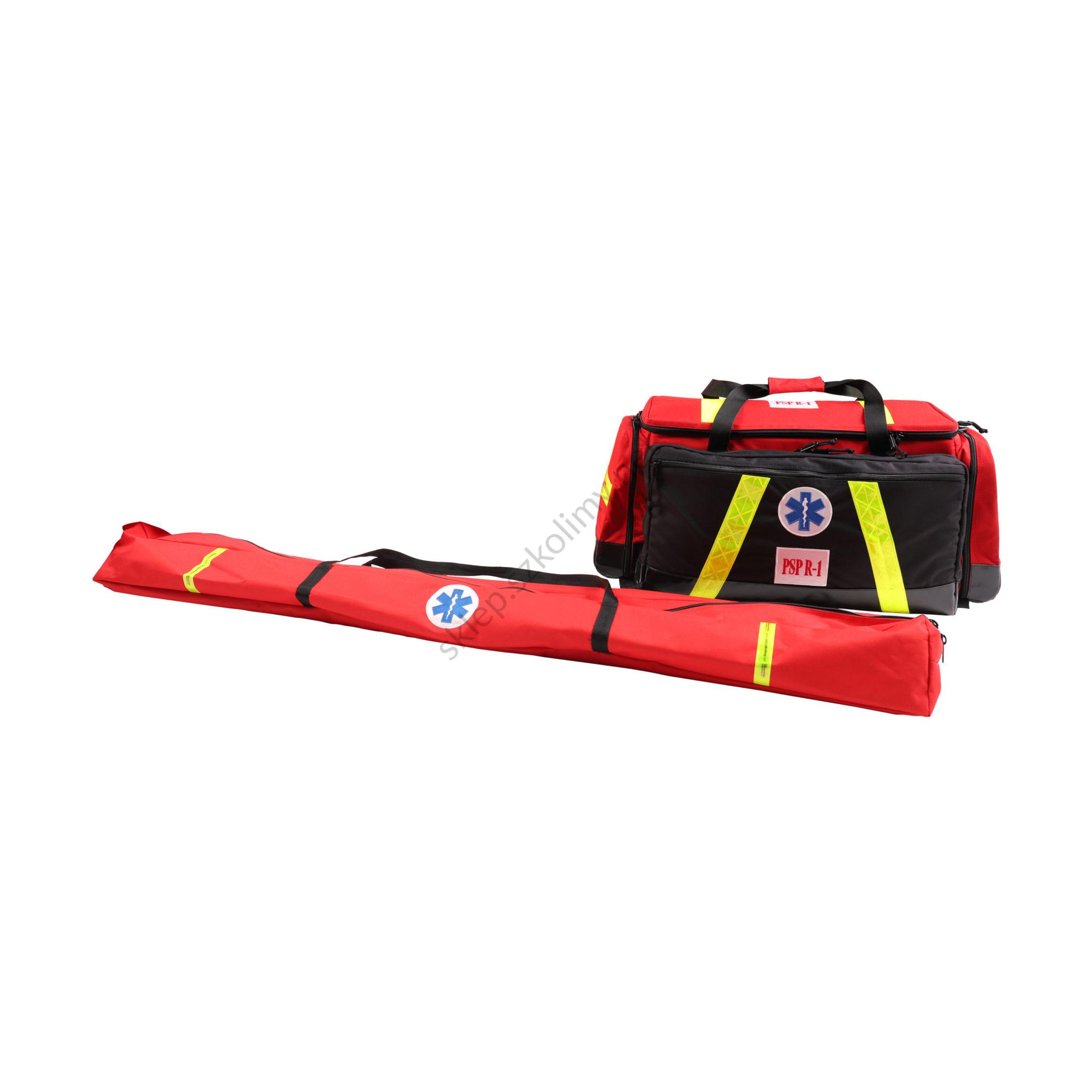 Zestaw ratowniczy PSP R1 w torbie z szynami kramera