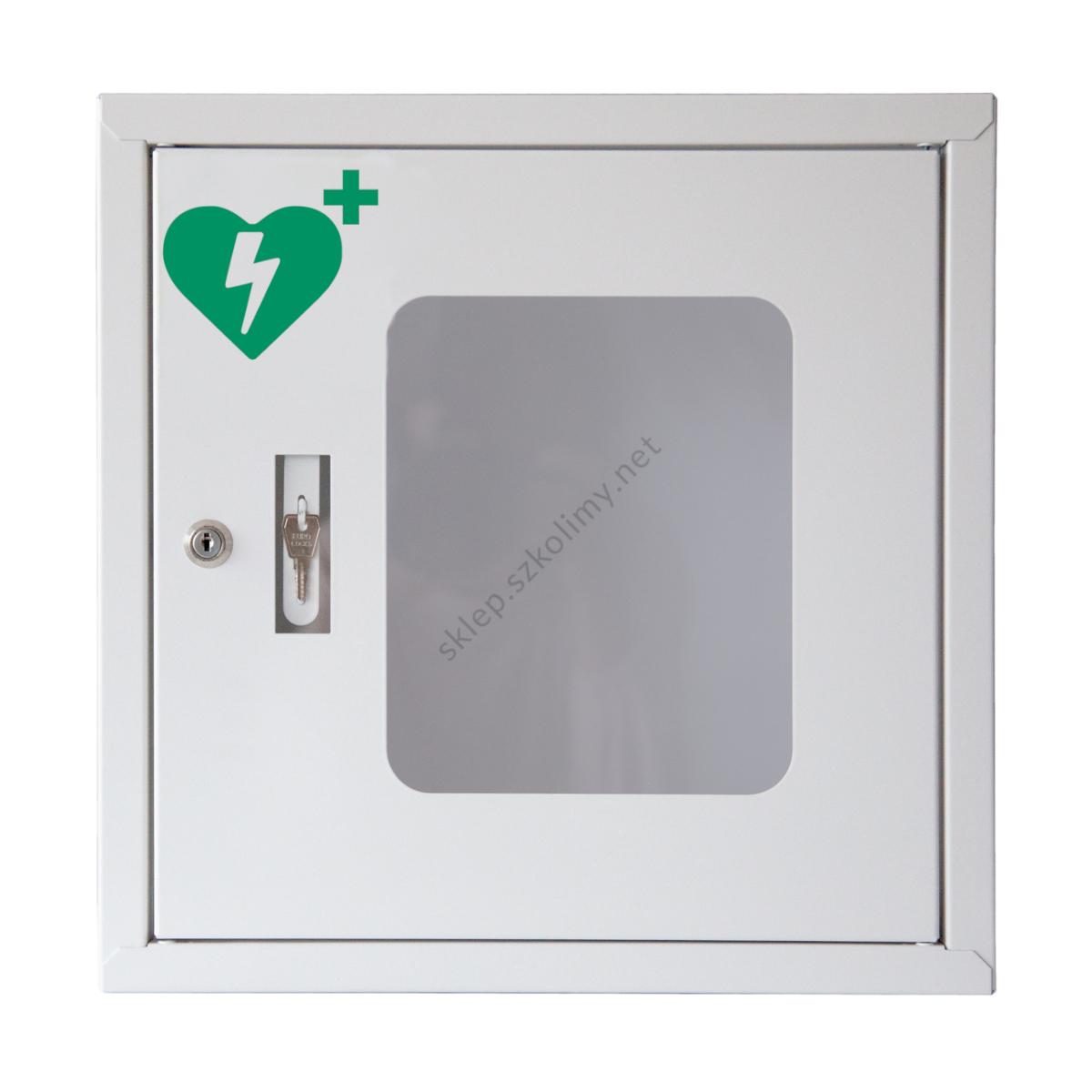 Szafka metalowa na defibrylator AED z alarmem dźwiękowym